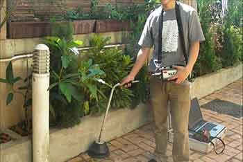 تشخیص ترکیدگی لوله آب در کرج و تهران با دستگاه نشت یابی