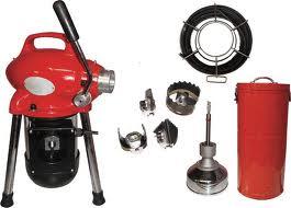 باز کردن گرفتگی لوله فاضلاب بوسیله دستگاه ژنراتور برقی و فنر فولادی